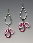 Heavy Teardrop Earrings by Lonna Keller (Silver & Neoprene Earrings)