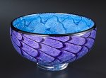 Storm Bowl: Purple & Blue by Thomas Kelly (Art Glass Bowl)