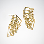 Slinky Earrings by Patricia Madeja (Gold or Silver Earrings)