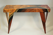Vienna Rectangular Console by Ingela Noren and Daniel  Grant (Wood Console Table)