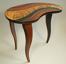 Honey River Bean Table by Ingela Noren and Daniel  Grant (Wood Side Table)