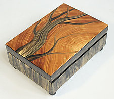 Wooden Tree Box by Ingela Noren and Daniel  Grant (Painted Wood Box)