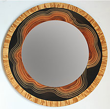 Yucatan Mirror by Ingela Noren and Daniel  Grant (Wood Mirror)