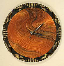 Australia Wall Clock by Ingela Noren and Daniel  Grant (Painted Wood Clock)