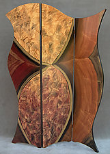Vienna Folding Screen by Ingela Noren and Daniel  Grant (Painted Wood Screen)