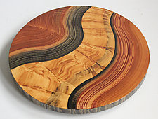 Honey River Lazy Susan by Ingela Noren and Daniel  Grant (Wood Serving Piece)