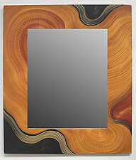 Honey Swirl Mirror by Ingela Noren and Daniel  Grant (Wood Mirror)