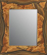 Russia Beveled Mirror by Ingela Noren and Daniel  Grant (Wood Mirror)
