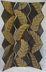 Palm Folding Screen by Ingela Noren and Daniel  Grant (Painted Wood Screen)