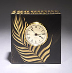 Brazil Table Clock by Ingela Noren and Daniel  Grant (Painted Wood Clock)