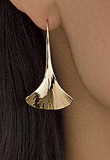 Ginkgo Drop Earrings by Stephen LeBlanc (Gold or Silver Earrings)