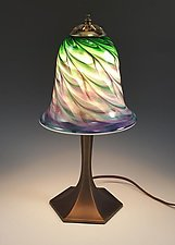 Cool Mix Trumpet Table Lamp by Mark Rosenbaum (Art Glass Table Lamp)