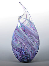 Cool Mix Wave Vase by Mark Rosenbaum (Art Glass Vase)