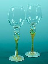 Wine Glasses by Mark Rosenbaum (Art Glass Goblets)