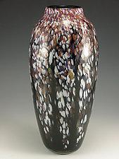Classic Winter Wisteria Vase by Mark Rosenbaum (Art Glass Vase)