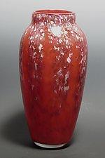 Classic Red Wisteria Vase by Mark Rosenbaum (Art Glass Vase)