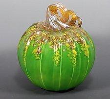 Harvest Pumpkin by Mark Rosenbaum (Art Glass Sculpture)