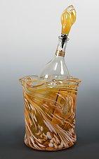 Gold Ice Bucket by Mark Rosenbaum (Art Glass Bucket)