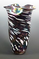 Mardi Gras Rowena Vase by Mark Rosenbaum (Art Glass Vase)