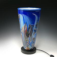 Rainbow Transformation Uplight by Mark Rosenbaum (Art Glass Table Lamp)