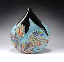Transformation Pod Vessel by Mark Rosenbaum (Art Glass Sculpture)