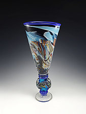 Transformation Totem Vase by Mark Rosenbaum (Art Glass Sculpture)