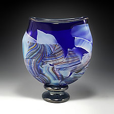 Transformation Pocket Vase by Mark Rosenbaum (Art Glass Sculpture)