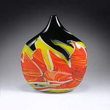 Transformation Pod Vessel by Mark Rosenbaum (Art Glass Sculpture)