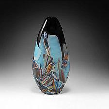 Transformation Cocoon Vessel by Mark Rosenbaum (Art Glass Sculpture)