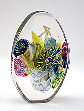 Crystal Optical III by Wes Hunting (Art Glass Sculpture)
