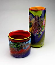 Color Field Cylinder by Wes Hunting (Art Glass Vessel)