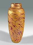 Spun Vase in Salmon by Mark Rosenbaum (Art Glass Vase)