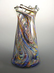 Rainbow Tower Vase by Mark Rosenbaum (Art Glass Vase)
