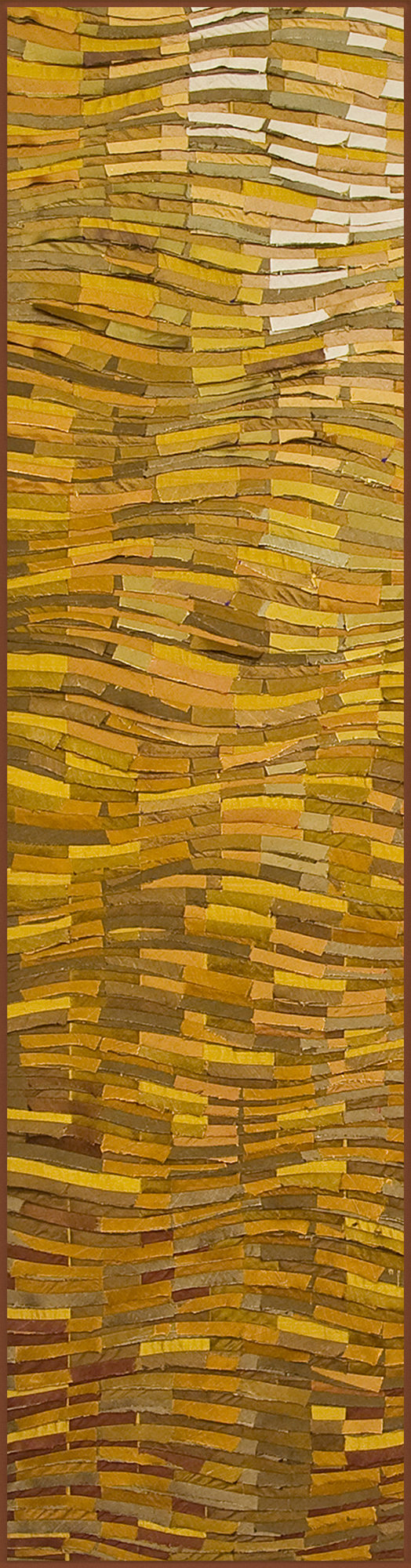 Gold Wave Banner by Tim Harding (Fiber Wall Hanging) | Artful Home