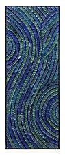 Azul Swirl Banner by Tim Harding (Fiber Wall Hanging)
