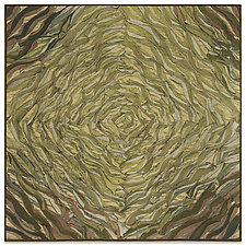 Sage Spiral, Corolla Series by Tim Harding (Fiber Wall Hanging)