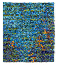 Turquoise Colorfield No. 2 by Tim Harding (Fiber Wall Hanging)