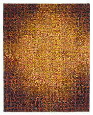 Golden Glow Grid by Tim Harding (Fiber Wall Hanging)