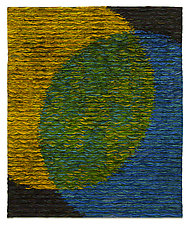 Venn Diagram-Green by Tim Harding (Fiber Wall Hanging)