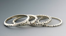 Silver Stacking Rings by Barbara Bayne (Silver Ring)