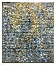Reflecting Pool Shimmer # 6 by Tim Harding (Fiber Wall Hanging)