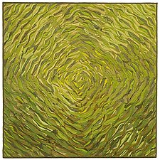 Green Spiral by Tim Harding (Fiber Wall Hanging)