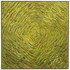 Green Spiral by Tim Harding (Fiber Wall Hanging)