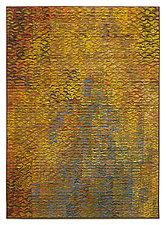 Golden Shimmer Triptych by Tim Harding (Fiber Wall Hanging)