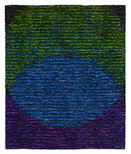 Venn Diagram-Blue by Tim Harding (Fiber Wall Hanging)