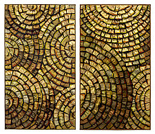 Gold Medallions by Tim Harding (Fiber Wall Hanging)