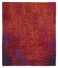 Red  Colorfield by Tim Harding (Fiber Wall Art)