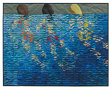 Swimmers # 9 by Tim Harding (Fiber Wall Hanging)