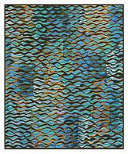 Shimmer # 18 by Tim Harding (Fiber Wall Art)