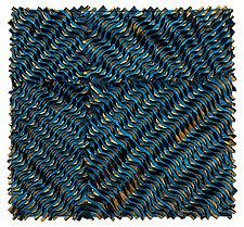 Blue Twist by Tim Harding (Fiber Wall Art)
